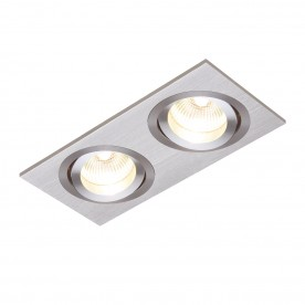 Tetra twin 50W recessed - brushed silver anodised
