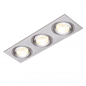 Tetra triple 50W recessed - brushed silver anodised
