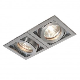 Xeno twin 50W recessed - aluminium