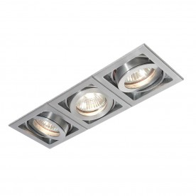 Xeno triple 50W recessed - aluminium