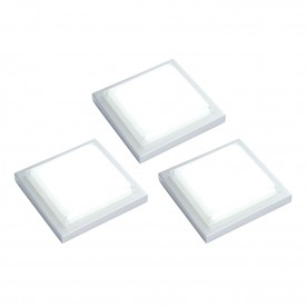 Santo square kit 1.5W SW daylight white cabinet - silver abs plastic