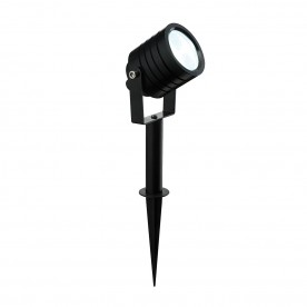 Luminatra spike IP65 5W daylight white floor - black anodised