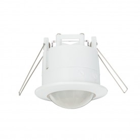 PIR presence detector recessed accessory - gloss white pc