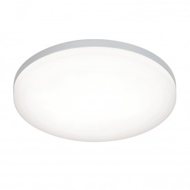 Noble 300mm round flush IP44 22W cool white - opal pc