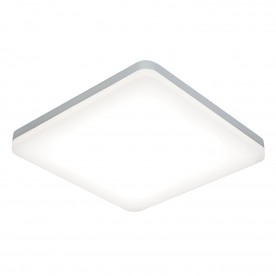 Noble 300mm square flush IP44 22W cool white - opal pc