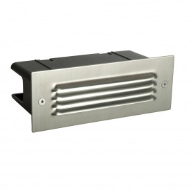 Seina louvre IP44 4.5W daylight white recessed - marine grade brushed stainless steel