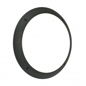 Seran plain IP65 12W daylight white wall - matt black textured pc