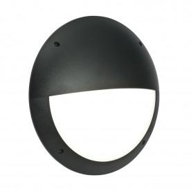 Seran eyelid IP65 12W daylight white wall - matt black textured pc