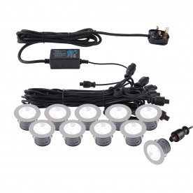IkonPRO 45mm kit IP67 0.75W daylight white recessed - polished stainless steel