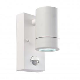 Icarus PIR 1lt wall IP44 2.5W daylight white - white polypropylene