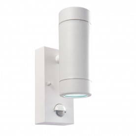 Icarus PIR 2lt wall IP44 2.5W daylight white - white polypropylene