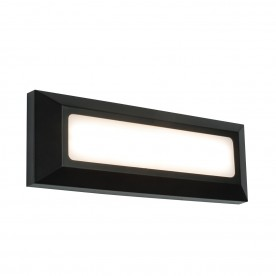 Severus landscape direct IP65 3W warm white wall - black abs plastic