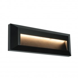 Severus landscape indirect IP65 2W warm white wall - black abs plastic