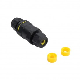 Inline IP68 connector straight IP68 accessory - black nylon