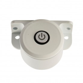 Control push switch SW accessory - white abs plastic