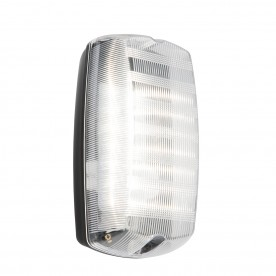 Avit IP44 6W cool white wall - clear prismatic