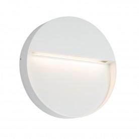 Tuscana round indirect IP44 9W warm white wall - textured matt white