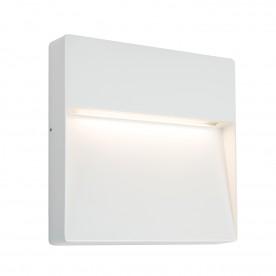 Tuscana square indirect IP44 9W warm white wall - textured matt white