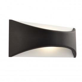 Vulcan 220mm 1lt wall IP65 6W warm white - textured matt black