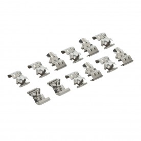 LED anti corrosive twelve pack clip accessory - natural stainless steel
