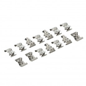 LED anti corrosive fourteen pack clip accessory - natural stainless steel