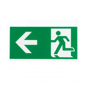 Nova exit left & right sign accessory EM - green acrylic