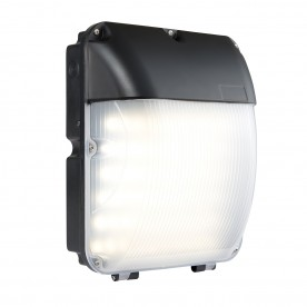 Lucca IP44 30W cool white wall - matt black