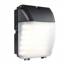 Lucca photocell IP44 30W cool white wall - matt black