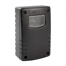 Twilight detector wall IP44 accessory - black abs plastic