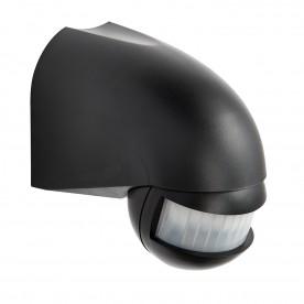 PIR security detector wall IP44 accessory - black abs plastic