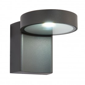 Oreti IP44 10W cool white wall - textured dark matt anthracite