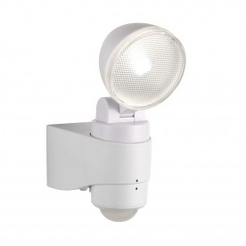 Laryn PIR single IP44 2W cool white wall - white abs plastic