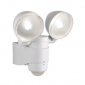 Laryn PIR twin IP44 2W cool white wall - white abs plastic