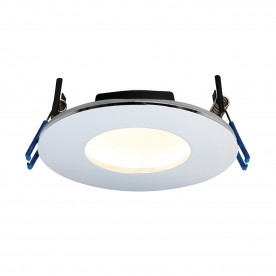 OrbitalPLUS IP65 9W warm white recessed - chrome plate