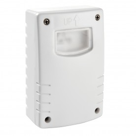 Twilight detector wall IP44 accessory - white abs plastic