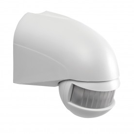 PIR security detector wall IP44 accessory - white abs plastic