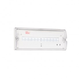 Sight Eco IP65 3W daylight white wall - clear prismatic