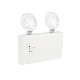 Sight Twin Spot ENM 3W daylight white wall - gloss white