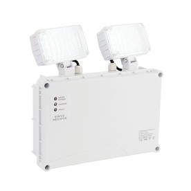 Sight Twin Spot iP65 ENM IP65 3W daylight white wall - clear pc