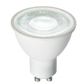 GU10 LED SMD dimmable 6W daylight white accessory - matt white plastic