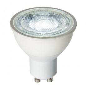 GU10 LED SMD 60° 7W daylight white accessory - matt white plastic