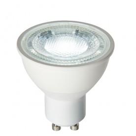 GU10 LED SMD dimmable 60 degrees 7W daylight white accessory - matt white plastic