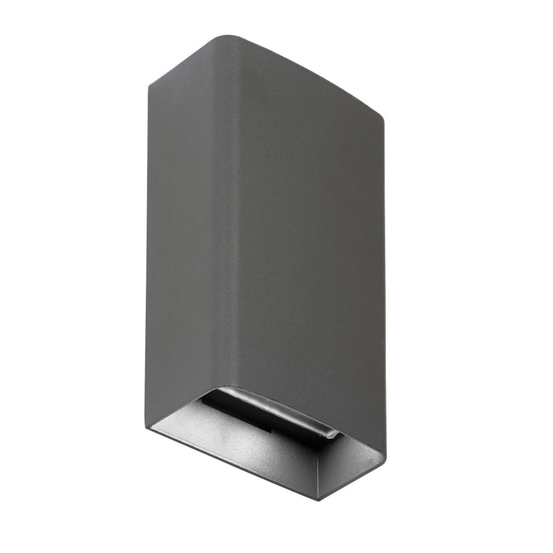 Odin tall 2lt wall IP54 3W daylight white - matt grey