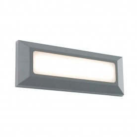 Tivoli landscape direct IP65 3W warm white wall - grey abs plastic