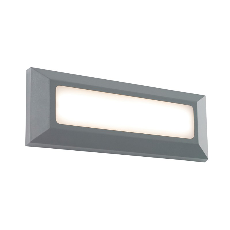 Severus landscape direct IP65 3W warm white wall - grey abs plastic