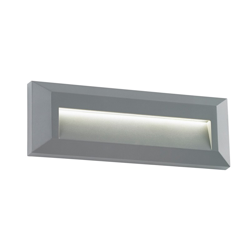 Severus landscape indirect IP65 2W warm white wall - grey abs plastic