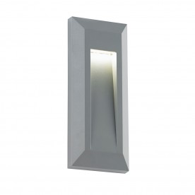 Severus portrait indirect IP65 0.6W warm white wall - grey abs plastic