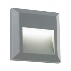 Severus square indirect IP65 1.1W warm white wall - grey abs plastic