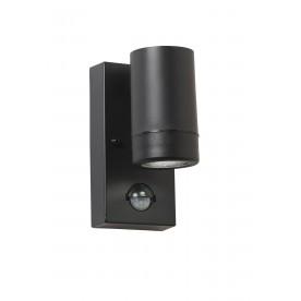 Icarus PIR 1lt wall IP44 2.5W daylight white - black polypropylene