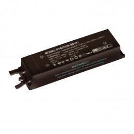 12V transformer 20W - 60W dimmable accessory - black pc